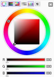 カラーサークルとRGBスライダ