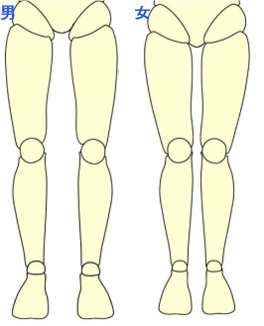 男女の足の差